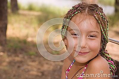 Cute armenian liitle girl