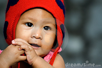 Cute asian baby girl