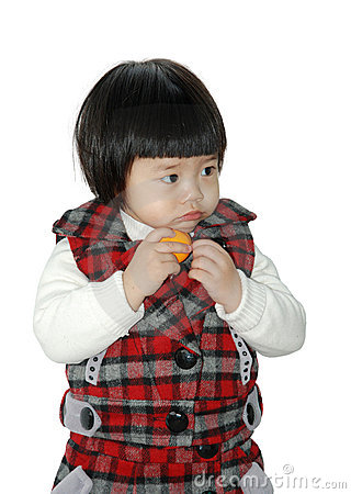 Free Cute Asian Child Stock Image - 12574451