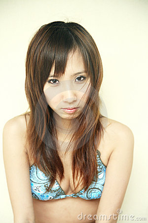 Cute Asian girl in a bikini