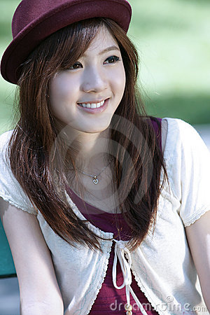 Cute asian girl portrait