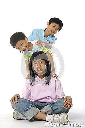 Free Cute Asian Kids Stock Image - 5233881