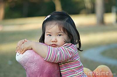 Cute Asian toddler