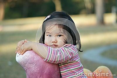 Cute Asian toddler