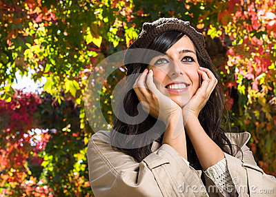 Cute autumn face