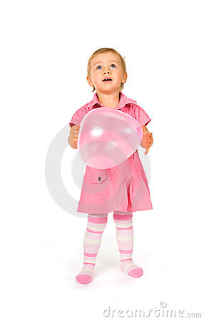 Cute baby with ballon