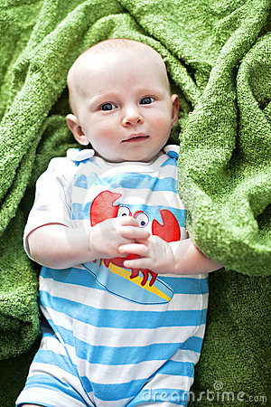 Cute baby on blanket