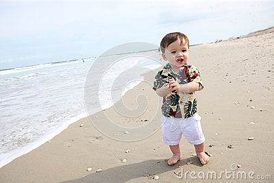 Cute Baby Boy at Beach