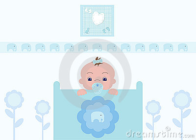 Cute Baby Boy in Nursery