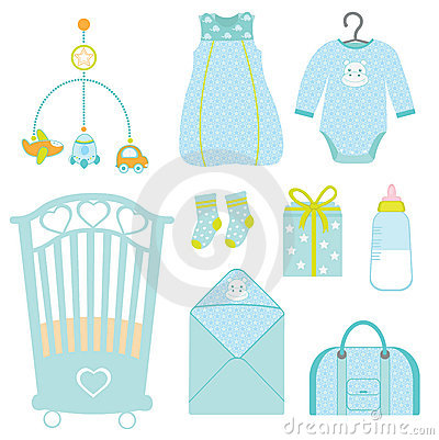Cute baby boy nursery