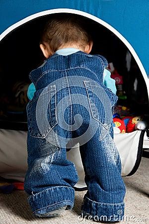 Cute baby butt