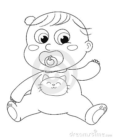 Cute baby - coloring