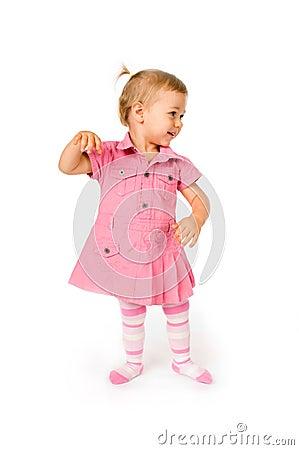 Free Cute Baby Dancing Stock Image - 7645261