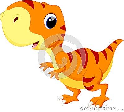 cute baby dinosaur cartoon stock illustration image
