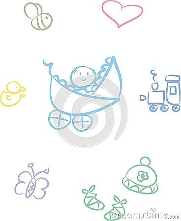 Cute Baby Doodle Set (Boy)