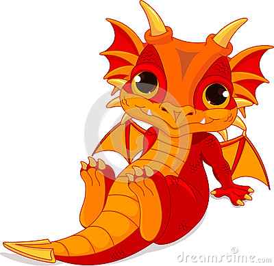 Free Cute Baby Dragon Royalty Free Stock Photography - 41002107