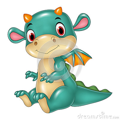 Free Cute Baby Dragon Stock Photography - 70285492