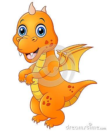 Free Cute Baby Dragon Standing Stock Photo - 76975500