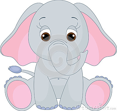 Free Cute Baby Elephant Stock Photos - 25312473