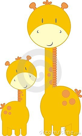 Cute Baby Giraffe And Mom Stock Images Image 8848134
