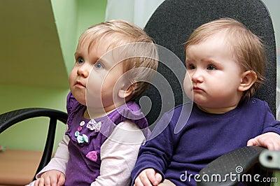 Cute baby girls