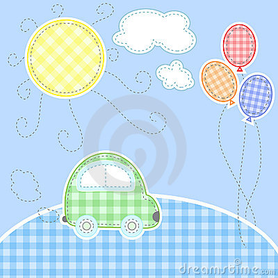 Free Cute Baby Greeting Card Royalty Free Stock Photo - 15426165