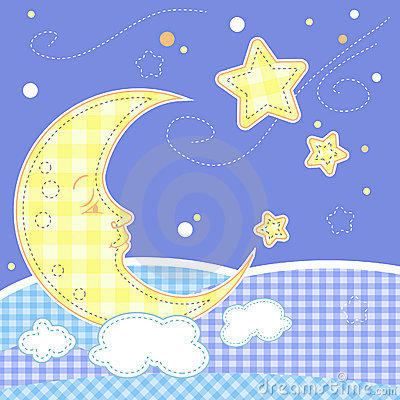 Cute baby greeting card - Moon