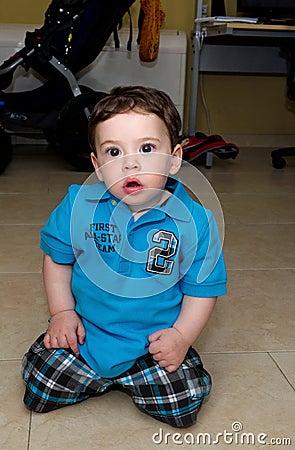 Cute Baby kneeling
