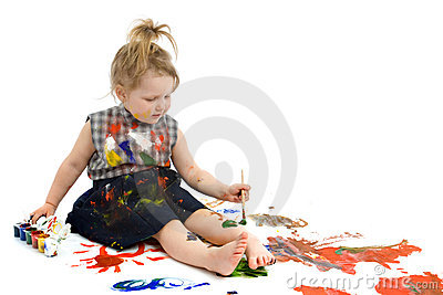Cute baby paintings