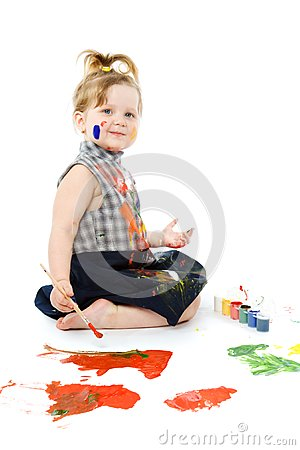 Cute baby paintings