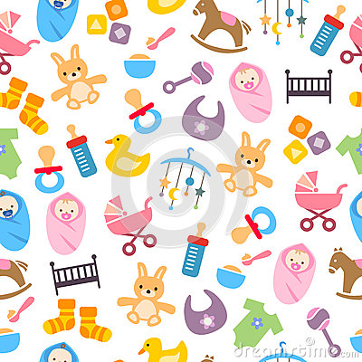 Free Cute Baby Pattern Stock Images - 37618354