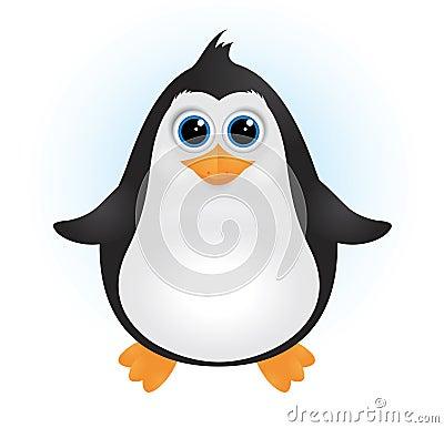 Cute Cartoon Baby Penguins
