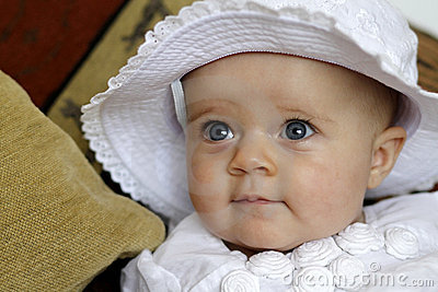 Cute baby portrait with blue eyes