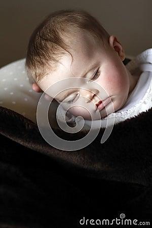 Cute baby portrait sleeping