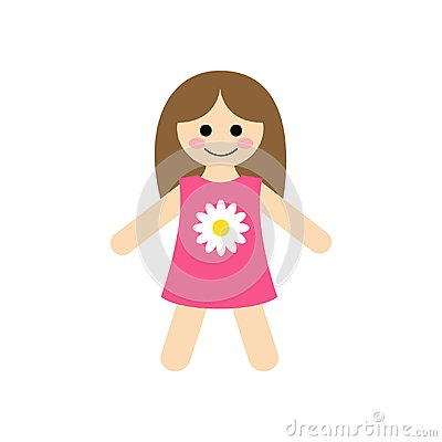 Free Cute Baby Rag Doll Vector Illustration Royalty Free Stock Photography - 107703077