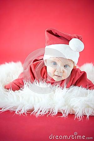 Cute baby Santa