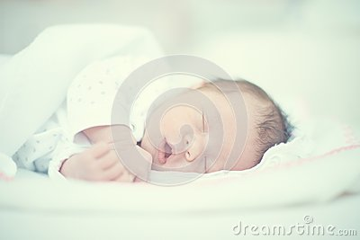 Cute Baby Sleeping With Mouth Open