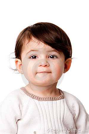 Cute baby toddler face