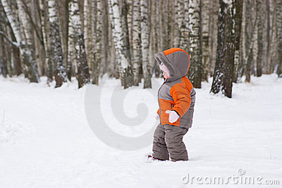 Cute baby walk from winter park
