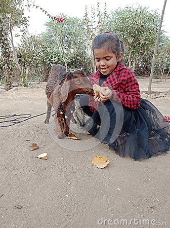 Free Cute Baby With A Goat On Street Of India Royalty Free Stock Photography - 109852537