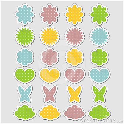 Cute babyish stickers set
