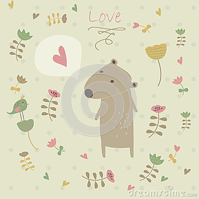 Cute background with bear
