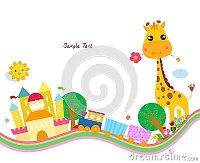 Cute background,giraffe