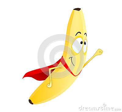 Cute Banana Superhero Royalty Free Stock Images - Image: 26273739