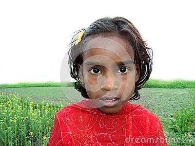 Cute Bangladeshi Girl Editorial Stock Photo
