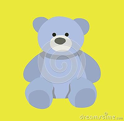 Cute bear design. Teddy bear cartoon design. Vector Illustration