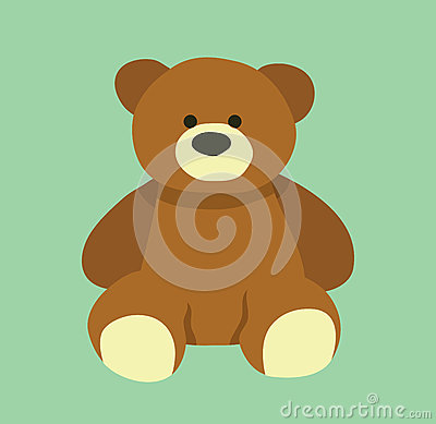 Cute bear design. Teddy bear cartoon design. Vector Illustration