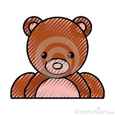 Cute bear teddy icon Vector Illustration