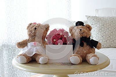 Cute Bears with Blank Note