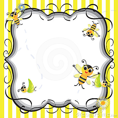 Cute Bee baby shower party invitation